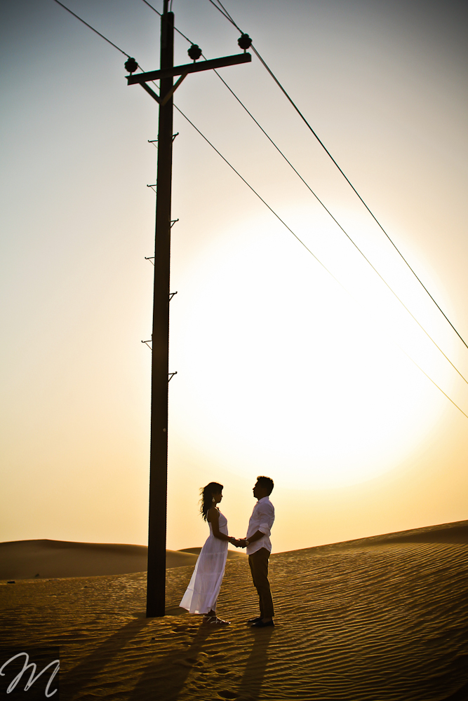 Dubai desert Engagement photography