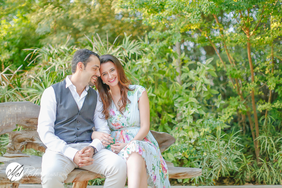 Dubai engagement shoot at The Farm Al Barari