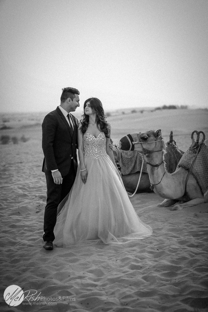 Desert engagement photography